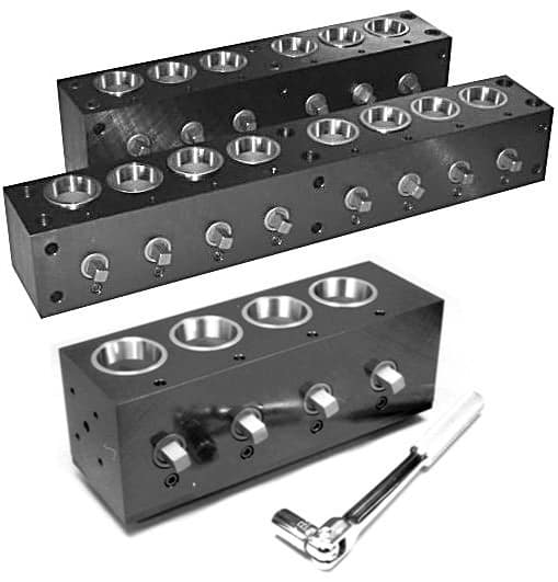C Multiblock Multiple Collet Fixtures
