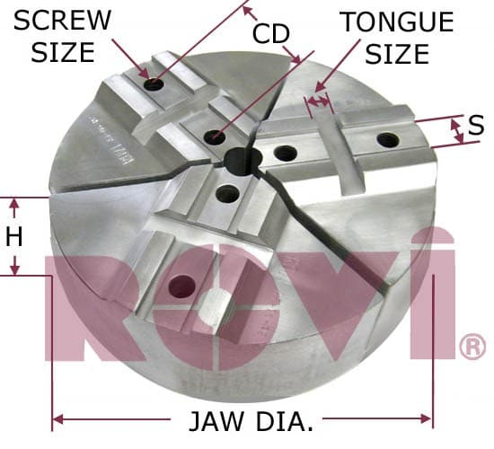 For  Diameter Buck ChuckFull Circle Jaw With  Slot FEMALE TONGUE