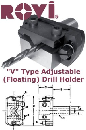 V Type Adjustable Floating Drill Holder